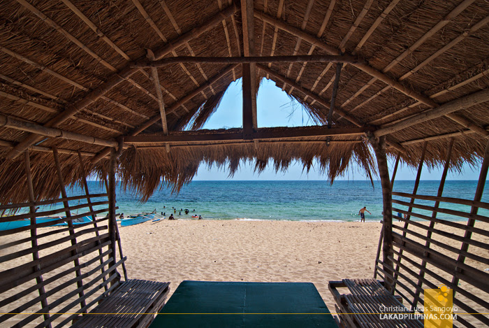 Patar White Beach Bolinao Huts