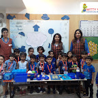 Blue Day celebration by Jr KG Section (2018-19) at Witty World, Bangur Nagar