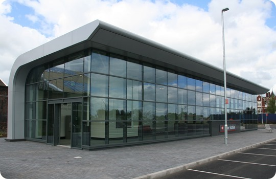 Crewe rail station's new entrance