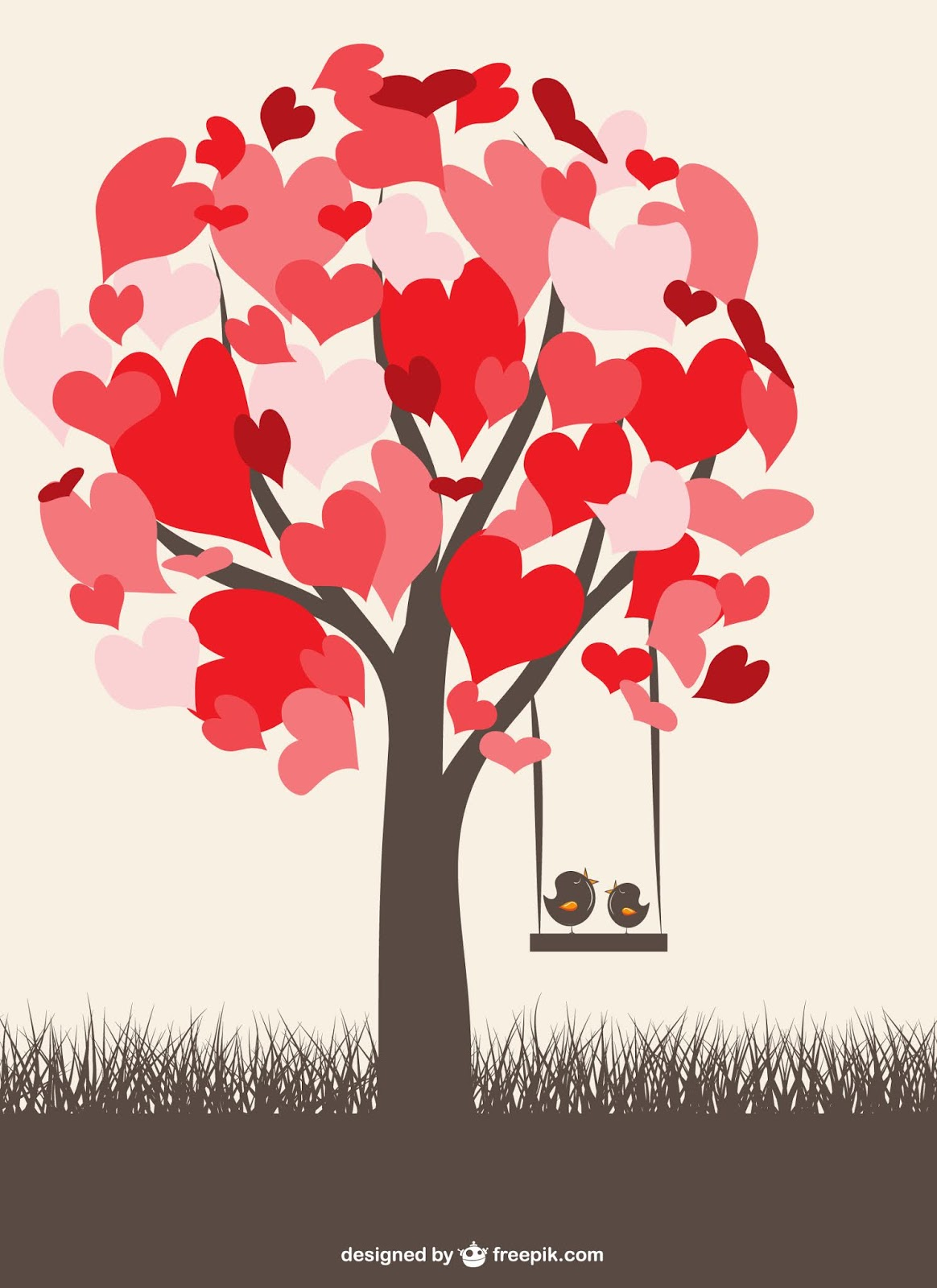 Love Birds Graphic Free Download Vector CDR, AI, EPS and PNG Formats