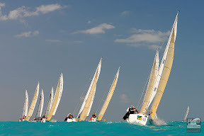 J/80s sailing off Key West - Race Week