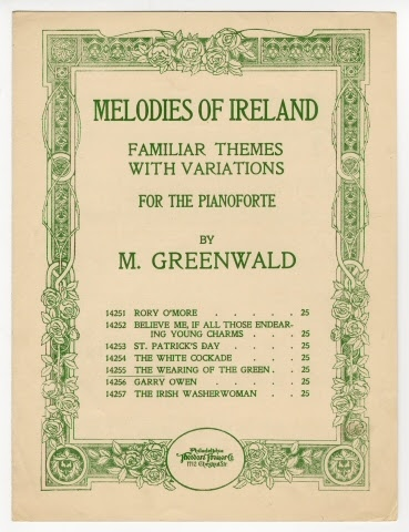 Sheet music:The Wearing of the Green