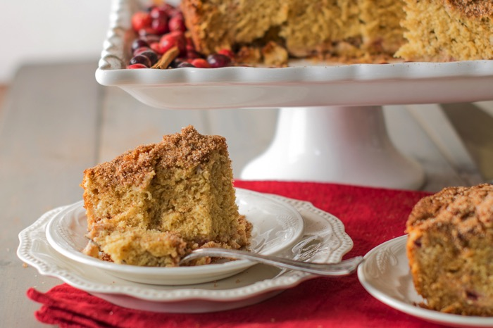 Cranberry Cream Cheese Cinnamon Coffee Cake Recipe
