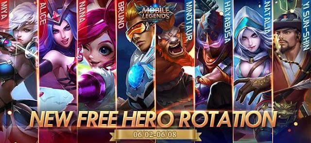 Mobile Legends 2 Haziran-8 Haziran Ücretsiz Kahraman Rotasyonu