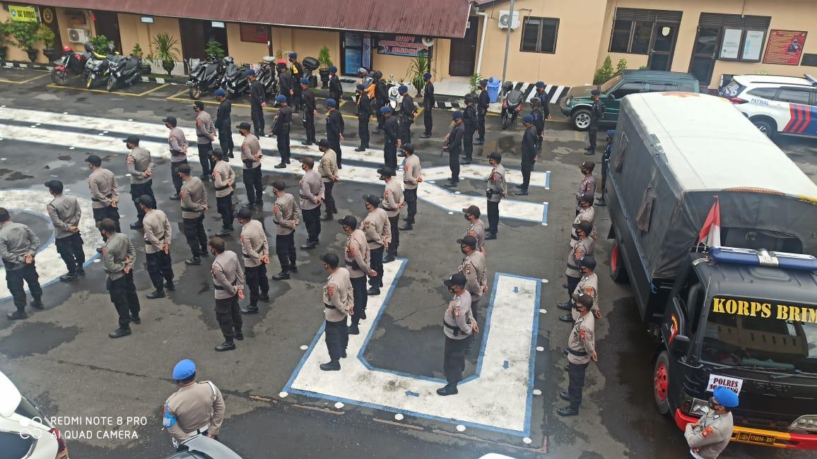 BKO Penguatan Pengamanan Pilkada Serentak 2020 Tiba di Polres Soppeng