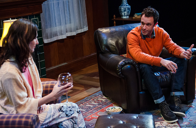 Portland Center Stage Sex with Strangers Danielle Slavick as Olivia and Christopher M. Smith as Ethan in
