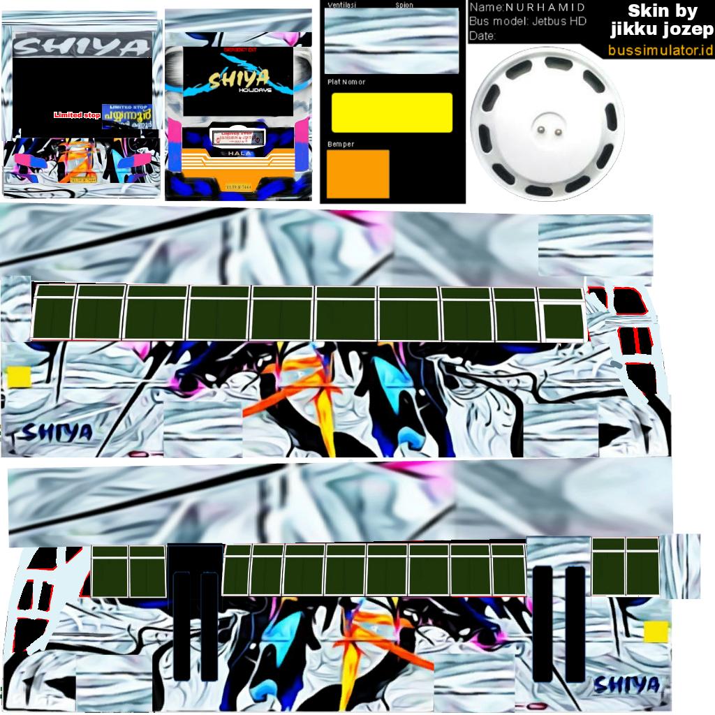 Bussid kerala: Shiya livery