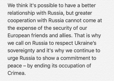 Image of ambassador Nikki Haley's statement about US relations with Russia