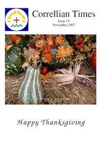 Cover of Correllian Times Emagazine's Book Issue 15 November 2007 Happy Thanksgiving