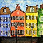 Rainbow Row Arty Party Painting.JPG