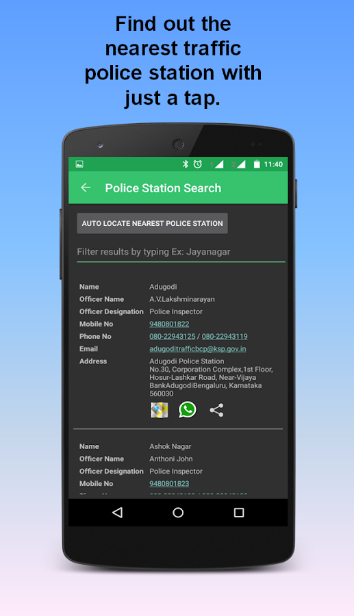 BTP - Bangalore Traffic Info- screenshot