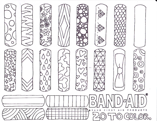Coloring Page Band Aid Invented Coloring Page  For First Aid Badge