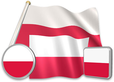Polish flag animated gif collection