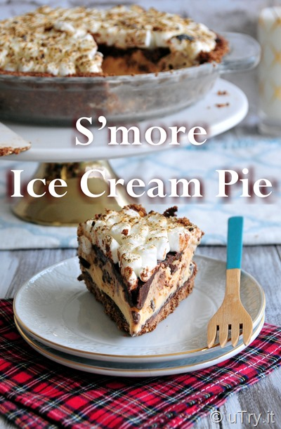 How to Make S'more Ice Cream Pie (No-Bake Dessert)  http://uTry.it
