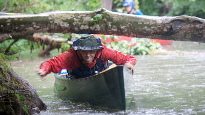 Canoe limbo.