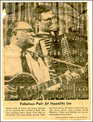 Al Fabre and Frank Baffaro, Seattle Post Intelligencer review (early 1960's) for the Moonlite Inn, Kent, Washington.