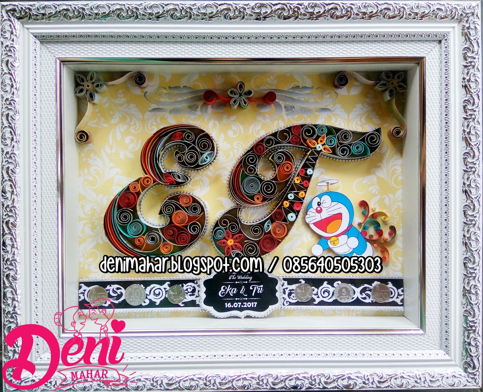 Mahar Quilling Inisial