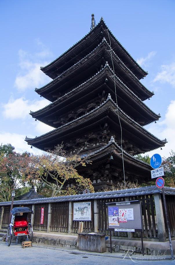 法觀寺木造的塔樓