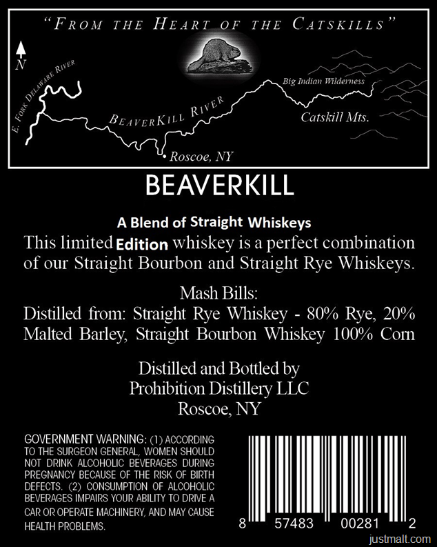Prohibition Distillery Beaverkill