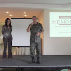 Workshop da Memoria, no Forte de Copacabana Pre-congresso do VIII Congresso Iberoamericano de Alzheimer Dra. Tania Guerreiro e o Coronel Wanzeller 14 de outubro de 2015