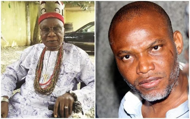 Umuahia Youth Movement Gives Governor Ikpeazu 24 Hours For Nnamdi Kanu's Father To Be Dethroned As A Traditional Ruler