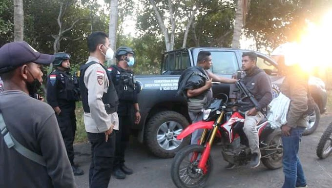 Kapolres Alor Pimpin Tim Gabungan Polres Alor Amankan Pelaku Pengrusakan Mobil Ambulance di Pantar