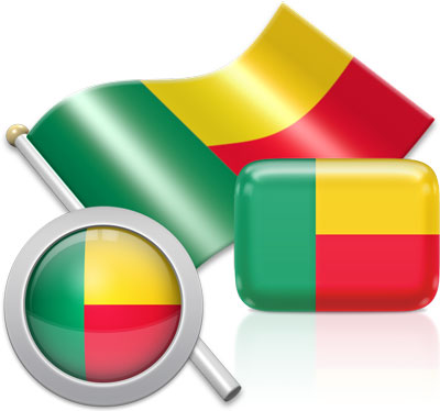 Beninese flag icons pictures collection