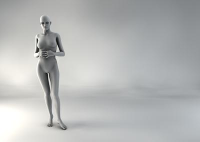 femme 3D pose naturelle SP 01