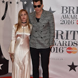 OIC - ENTSIMAGES.COM - Josephine de La Baume and Mark Ronson at the  The BRIT Awards 2016 (BRITs) in London 24th February 2016.  Raymond Weil's  Official Watch and  Timing Partner for the BRIT Awards. Photo Mobis Photos/OIC 0203 174 1069