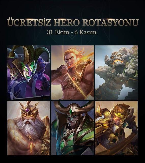 Arena of Valor Moba'da Bu Hafta Ücretsiz Kahramanlar
