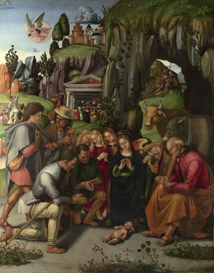 Luca Signorelli - Adorazione dei pastori.Adoration of the Shepherds