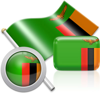 Zambian flag icons pictures collection