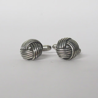 Sterling Silver Braided Rope Cufflinks