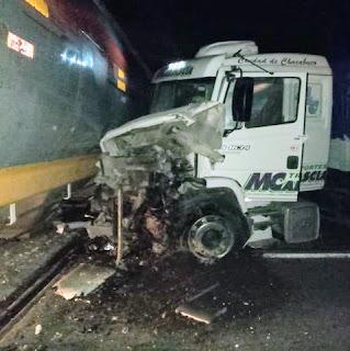 Choque tren camión diego de alvear