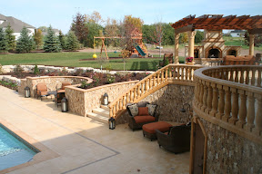 Architecture, Balustrades, Exterior, Gallery, Landscape Decor, Pavers, Pool Coping