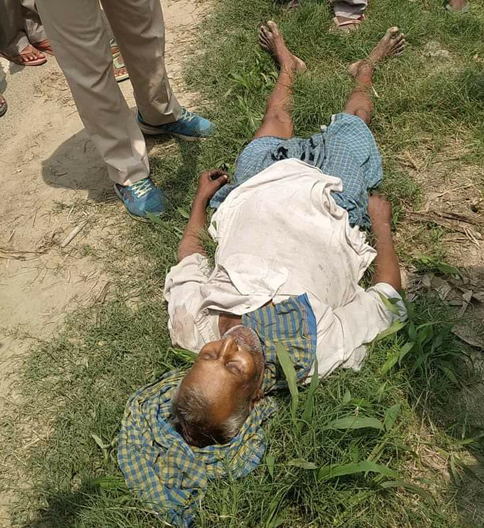 रोसड़ा के एरौत गाँव में अज्ञात वाहन की ठोकर से भूप कमती की सड़क दुर्घटना में मौत।