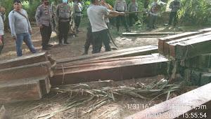 Polres Muarojambi Kembali Gagalkan 127 Batang Kayu Ilegal di Desa Betung