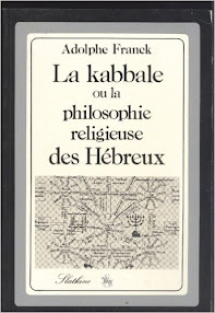 Cover of Adolph Franck's Book La Kabbale (in French)
