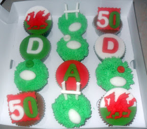 Dad 50th Rugby Cupcake