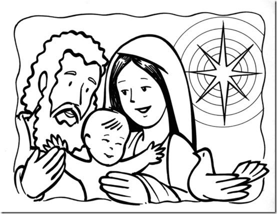 Navidad Sagrada Familia Para Colorear Colorear Tus Dibujos