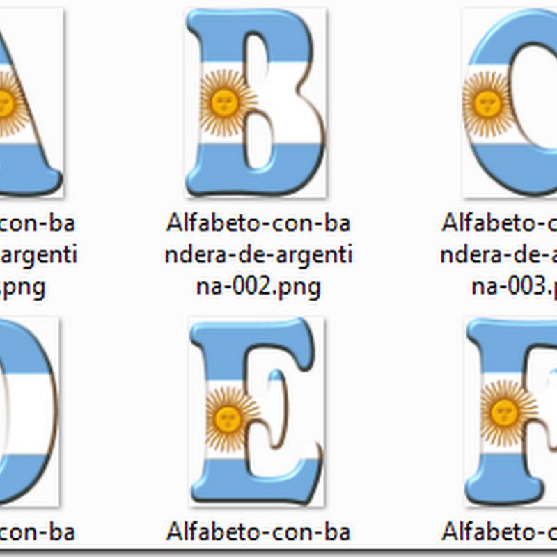 Alfabeto   bandera Argentina