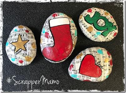 Music Collage Christmas Rocks