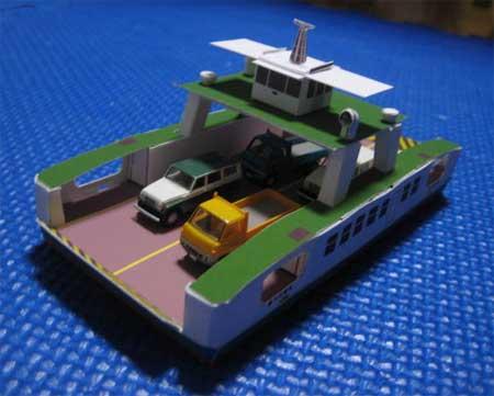 Onomichi Ferry Papercraft