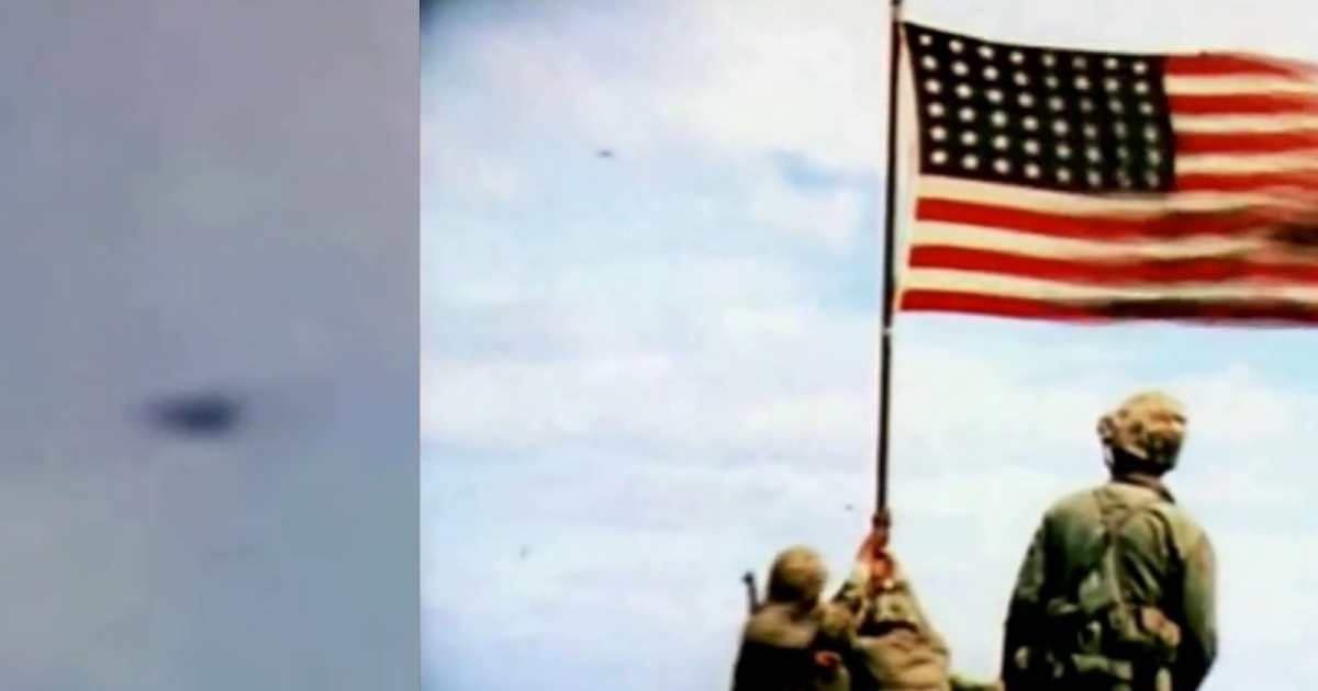 UFO Definitely in The Video of WW2 Flag Raising Ceremony
