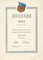 20 gutes Wissen Bronze - 1. oorkonden