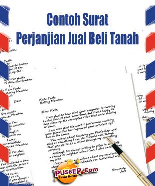 Contoh Surat Perjanjian Jual Beli Tanah - pusber.com
