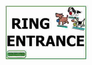 Dorset dog show Ring entrance sign