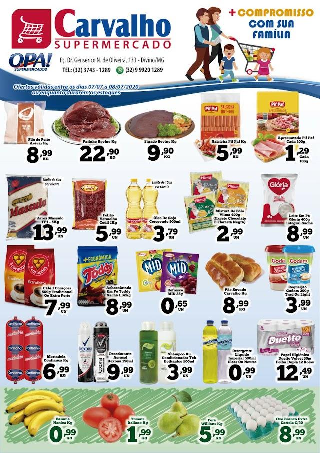 Terça e quarta de Preço Baixo no Carvalho Supermercado