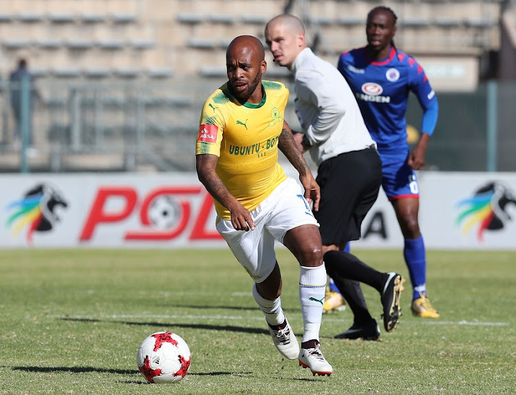 Oupa Manyisa of Mamelodi Sundowns during the 201/18 Absa Premiership football match between Supersport United and Sundowns at Lucas Moripe Stadium, Pretoria on 19 August 2017.