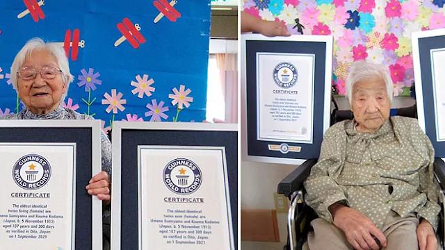 Dos gemelas japonesas de 107 años entran en el libro Guinness